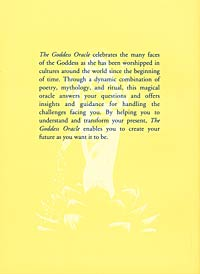 The Goddess Oracle, back cover